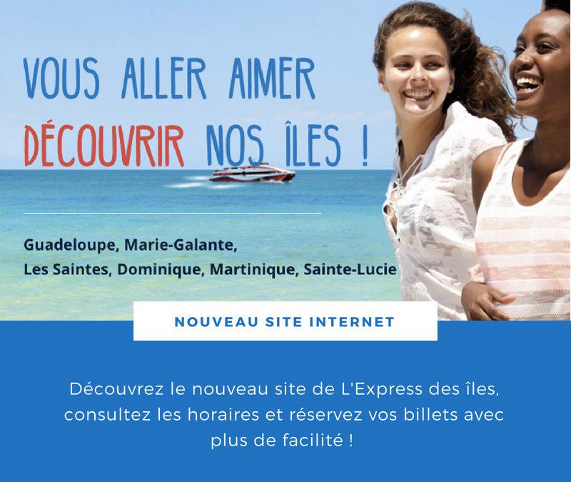 Nouveau site internet de L'Express des îles