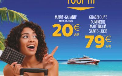 Nouvelle brochure de l'Express des îles 2019