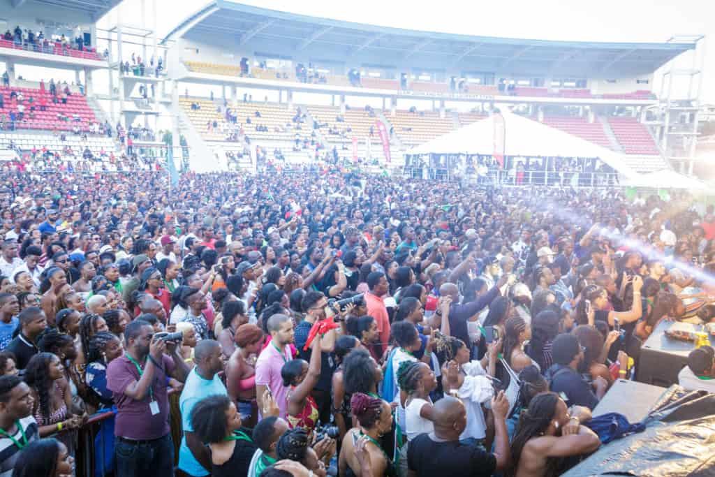 La foule au Festival World Creole Music