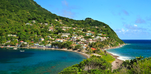 Petit village de Scotts Head en Dominique